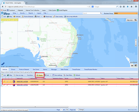 Replay's allow DigiCore Australia's clients to view where their vehicles have been. This allows them greater control over the management of their fleet.