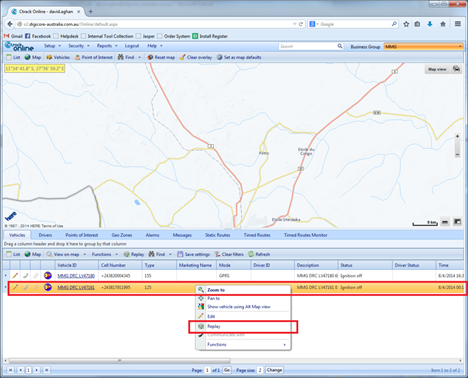 Replay's allow Digicore's clients to view where their vehicles have been. This allows them greater control over the management of their fleet.