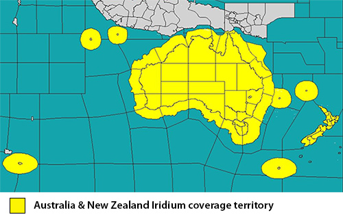 Iridium coverage Australia