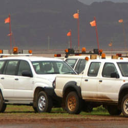 A Ute in the mining environment with DigiCore Australia's IVMS Installed.